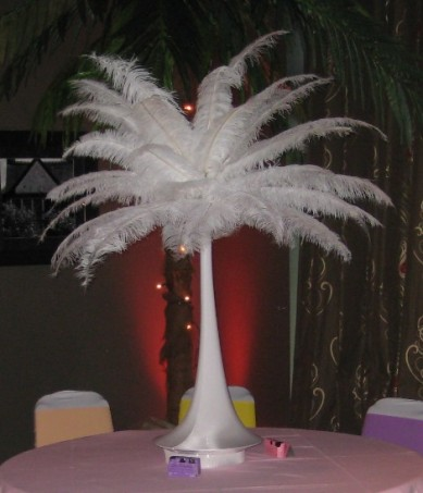 Feather Tower Centrepieces