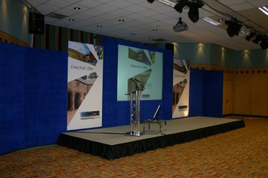 Corporate Events: Conference Stage Set