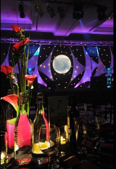 Corporate Events: Sails Stage Set