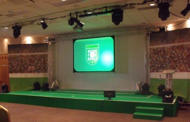 Corporate Events: Football Stage Set
