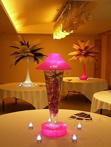Lamp Vase Centrepieces