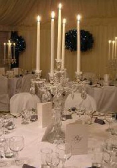Table Centre: Crystal Candelabra