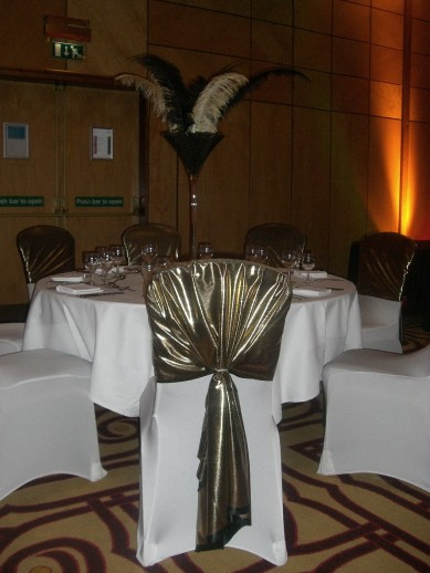 Table Centre: Mercury Chair Tie Backs