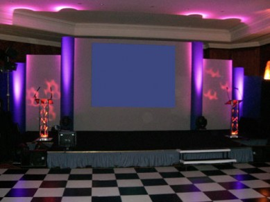 Corporate Events: Awards Stage Set