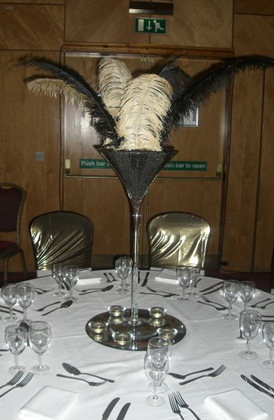 Table Centre: Martini Glass