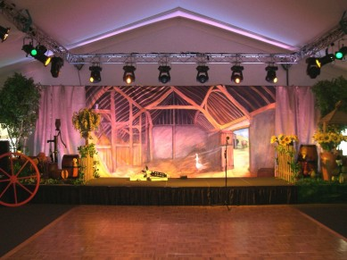 Corporate Events: Country Themed Stage Set