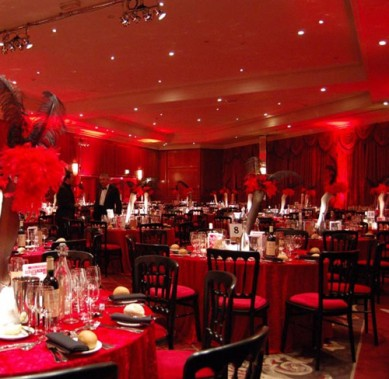 Red room setting
