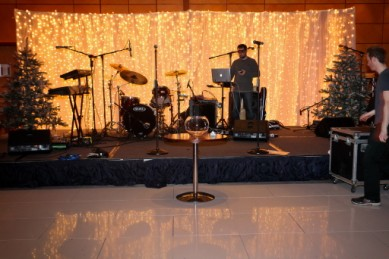 Corporate Events: Christmas Stage Set